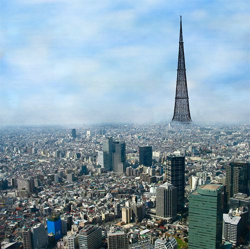 В Японии построят супернебоскреб, по форме напоминающий Фудзияму